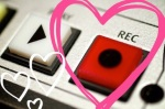 Record button and hearts