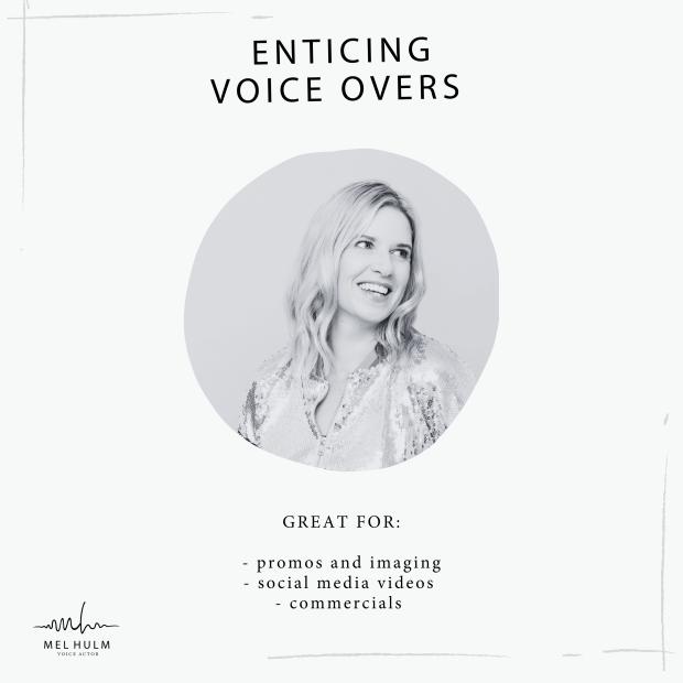 enticing voice overs album cover