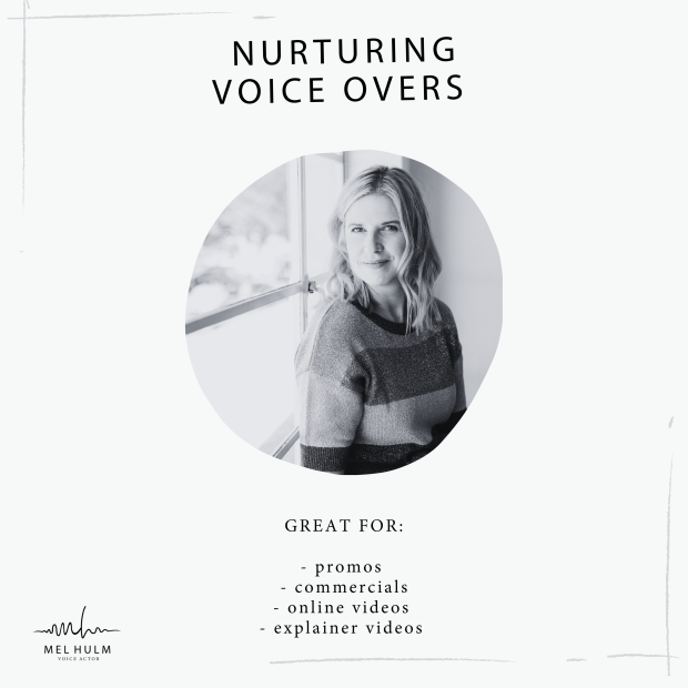 nurturing voice overs album cover